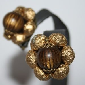 Beautiful gold and tiger eye vintage earrings